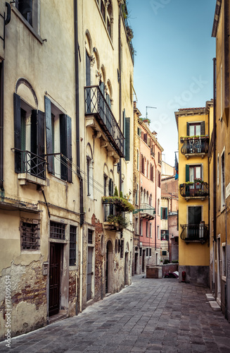 The old street in Venice, Italy