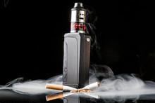 Tobacco Cigarette Crushed Unde...
