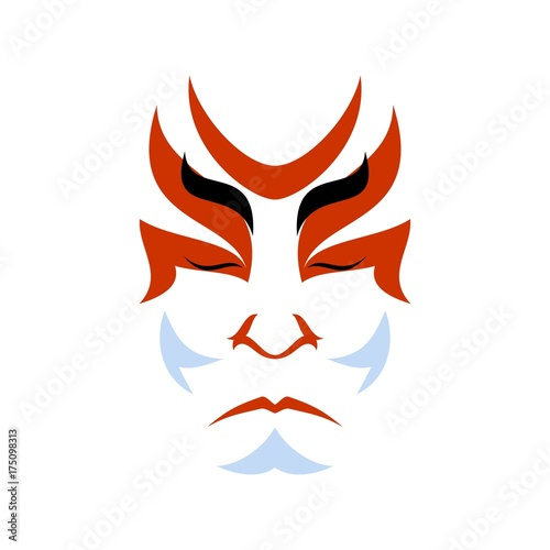 Carta da parati Japanese drama Kabuki face
