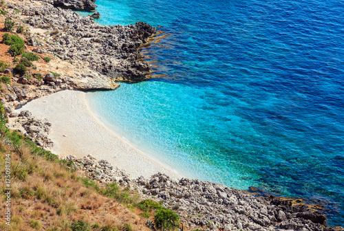 Spoed Foto op Canvas Mediterraans Europa Sea bay in Zingaro Park, Sicily, Italy