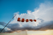 Old Windsock In A Stormy Sky