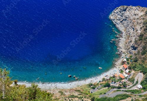 Poster Cote Sea coast view from Saint Elia mount top