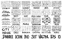 MEGA Set Of Doodles Vector. Su...