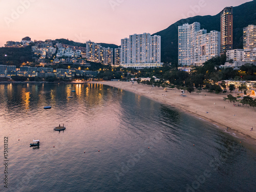 View of Repulse Bay beach in the southern part of Hong Kong Island,The Repulse Bay is one of the high end living area in Hong Kong Canvas-taulu