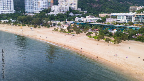 View of Repulse Bay beach in the southern part of Hong Kong Island,The Repulse Bay is one of the high end living area in Hong Kong Slika na platnu