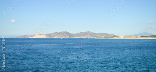 Seaview over Saronic Gulf in Greece, June, 2017