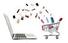 Shopping Cart And Laptop Compu...