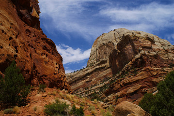 Layered and Eroded Sandstone in Capital Reef National Park