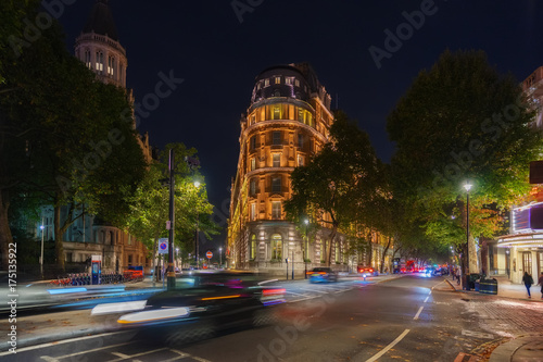 Westminster street scene in London with moving traffic Wallpaper Mural