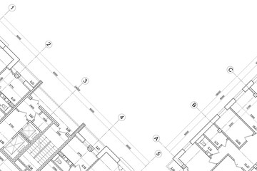 Background of architectural drawing