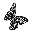 Butterfly with colorful wings. Insect butterfly single icon in black style vector symbol stock isometric illustration web.