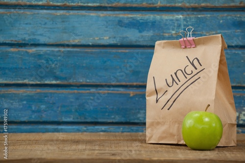 Apple and lunch bag Wallpaper Mural
