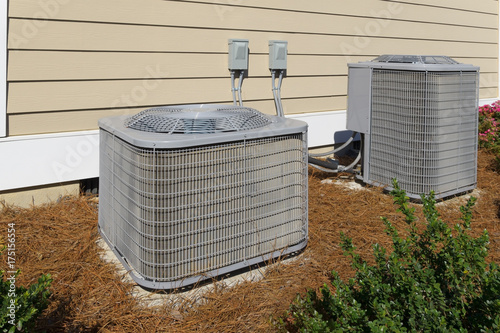 Residential house air conditioner compressor units Wallpaper Mural