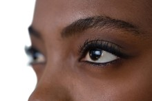 Close Up Of Woman Eyes Looking Away