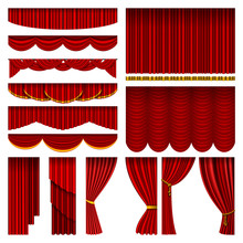 Theather Red Blind Curtain Sta...