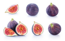 Fresh Figs Isolated On White Background.