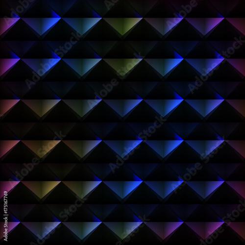 Keuken foto achterwand ZigZag Spectrum triangle pattern