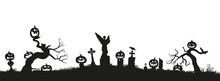 Holiday Halloween. Black Silho...