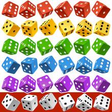 Vector Casino Dice Set Of Auth...