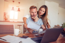 Couple Having Problem With Bills