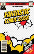 Comic Book Cover Vector Template
