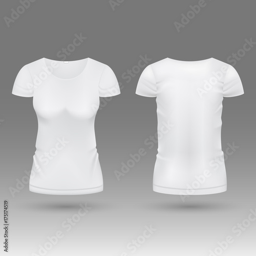 Blank realistic 3d white woman t shirt vector template isolated blank realistic 3d white woman t shirt vector template isolated pronofoot35fo Gallery