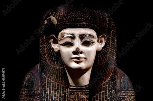 Fototapeta egyptian queen sarcophagus detail close up