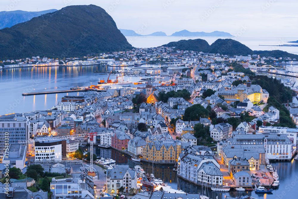 Alesund - the tourist city of Norway