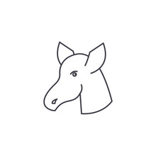 Hoss Vector Line Icon, Sign, I...