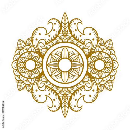Zdjęcie XXL rocznika ornamentu tło