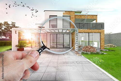 Fotografia, Obraz  expertise et audit construction d'une maison d'architecte