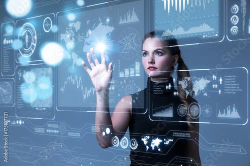 Fotografía  Futuristic user interface concept