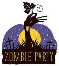 Vector Lettering For Zombie Pa...