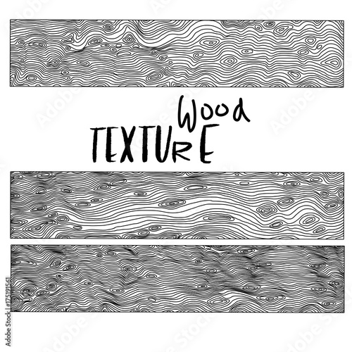 Fototapety, obrazy: Imitation of wooden background. Vector texture with wood effect. Black and white illustration.