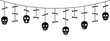 Halloween Ornaments With Sculls And Bones