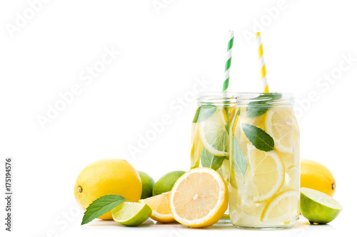 Photo fresh lemonade drink bottle