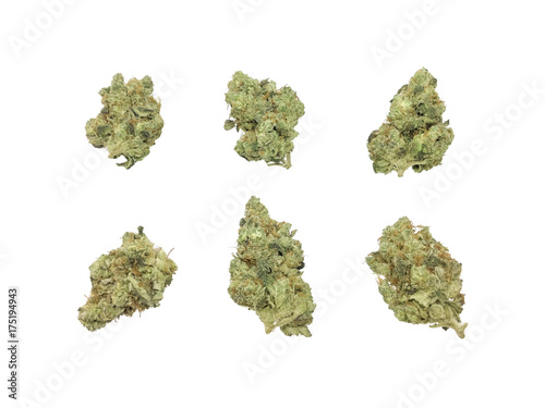 Marijuana Buds HDR Isolated On White Background Canvas Print