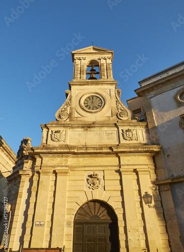 Torre dell'Orologio in Vittorio Emanuele II street of Galatina, Apulia Canvas-taulu
