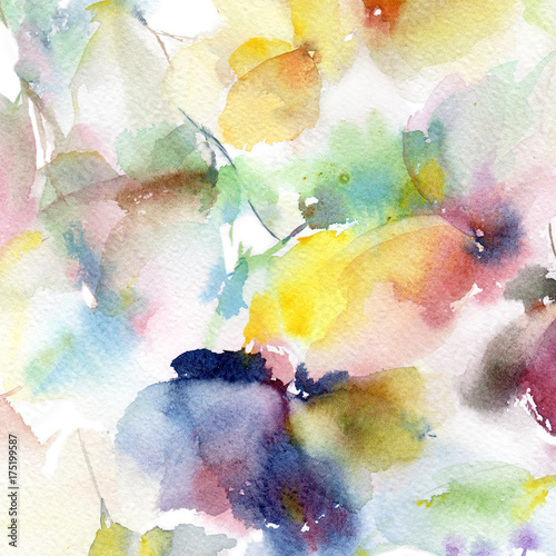 Floral background. Watercolor floral background. Greeting card ...
