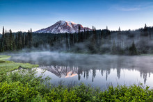 Scenic View Of Mount Rainier R...