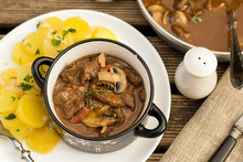 Beef Stew Goulash With Bacon A...