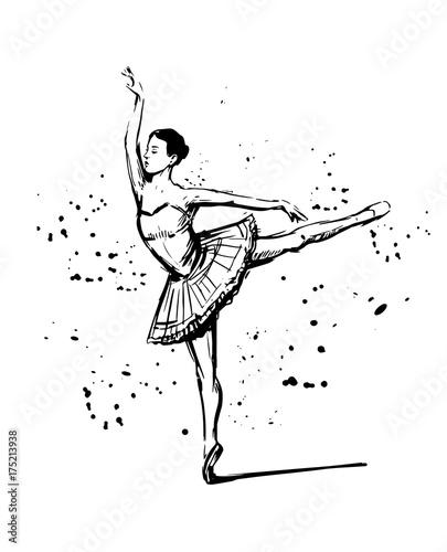 Fototapeta Sketch of ballerina