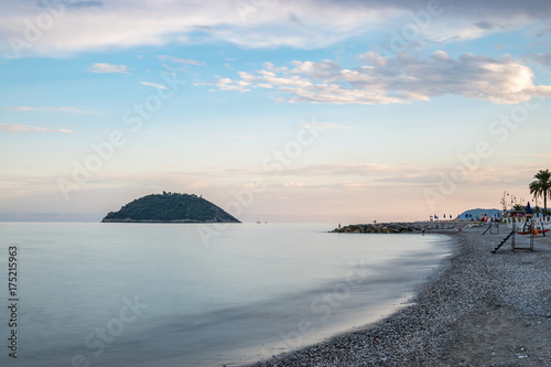 View from the beach in Albenga Wallpaper Mural