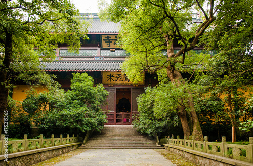 Photo sur Toile Con. Antique The prayer hall of Lingyin temple, Hangzhou, China.