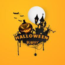 Happy Halloween Text Banner Ba...
