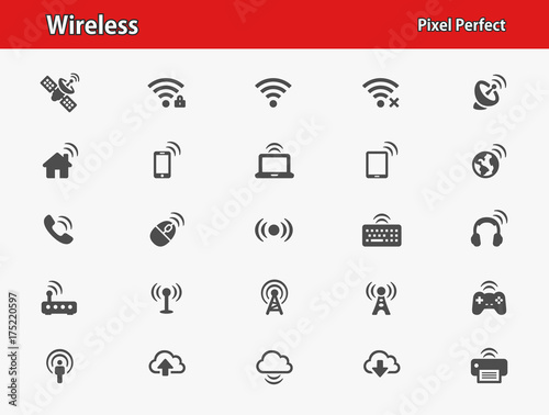 Wireless Icons Wallpaper Mural