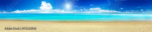 Staande foto Zee / Oceaan Sea beach panorama