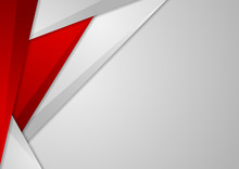 Grey And Red Tech Corporate Abstract Background