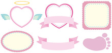 Label Design In Pink Color