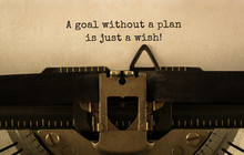 Text A Goal Without A Plan Is ...